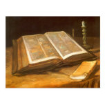 Bible by Vincent van Gogh, Vintage Impressionism Post Card