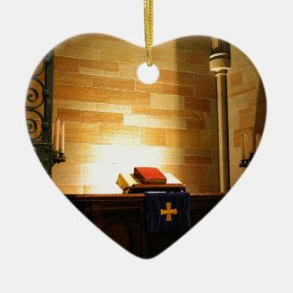 Bible Ceramic Heart Decoration