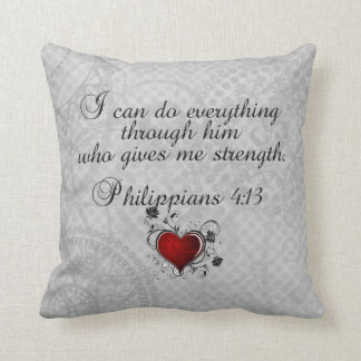 Bible Christian Verse Philippians 4:13 Cushion