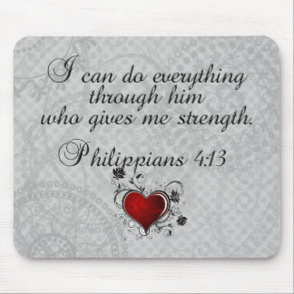 Bible Christian Verse Philippians 4:13 Mouse Pad