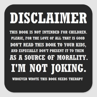 Bible Disclaimer Sticker