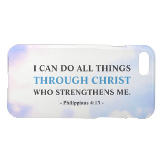 Bible Faith Quote Motivational Uncommon iPhone 8/7 Case