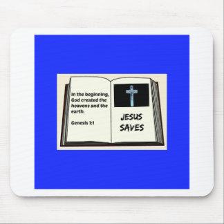 "Bible ""Jesus Saves"" Series: Genesis 1:1 Mouse Pad"