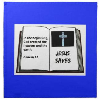 "Bible ""Jesus Saves"" Series: Genesis 1:1 Napkin"