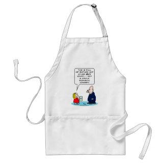 bible kid priest romantic comedy battles boy girl standard apron