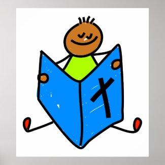 Christian Poster: Bible Kid Boy