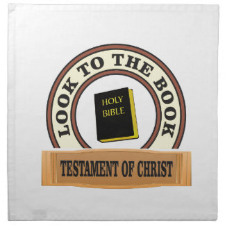 bible look to the book napkin