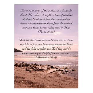 Bible passage, the seaside postcard