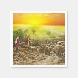 Bible - Psalm 23 - My cup runneth over 1920 Disposable Serviette