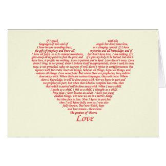 Bible Quote 1 Corinthians 13 Love Heart Art Design Card