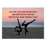 BIBLE QUOTE GYMNASTICS DESIGN PHOTO