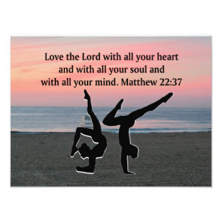 BIBLE QUOTE GYMNASTICS DESIGN PHOTO PRINT