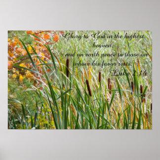 Bible quotes Luke 2:14 poster