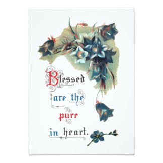 Bible Saying With Flowers 13 Cm X 18 Cm Invitation Card