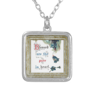Bible Saying With Flowers Silver Plated Necklace