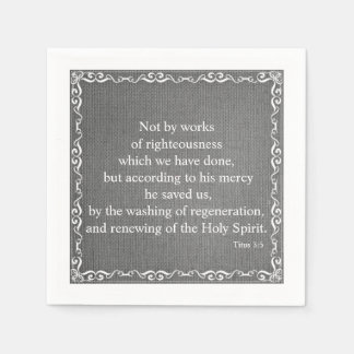 Bible Scripture Blessing - Titus 3:25 Disposable Serviette