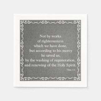 Bible Scripture Blessing - Titus 3:5 Disposable Serviette