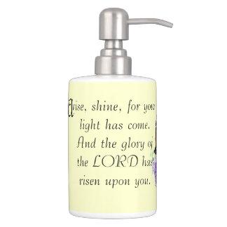 Bible Scripture Christian Inspiration Soap Dispenser And Toothbrush Holder