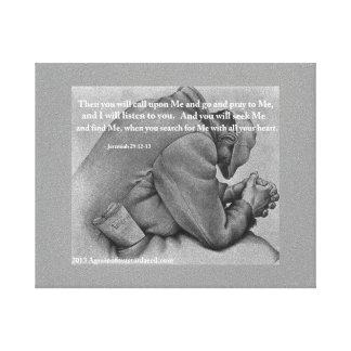 Bible Scripture Inspirational Canvas Print