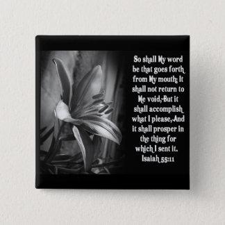 BIBLE SCRIPTURE ISAIAH 55:11 15 CM SQUARE BADGE