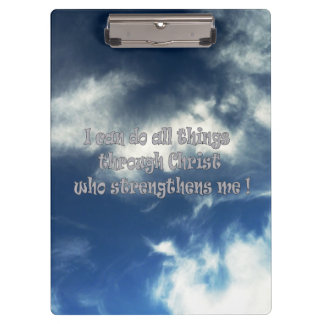 Bible scripture Philippians 4:13 Clipboard