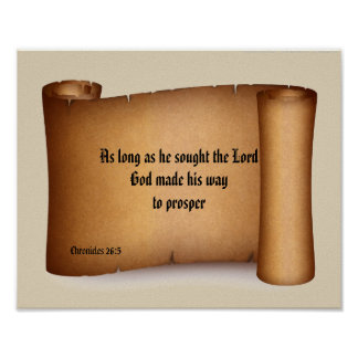 BIBLE SCRIPTURE SCROLL poster