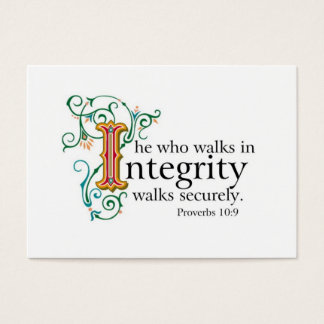 Bible Scriptures on Trust and Integrity.. Business Card