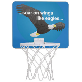 Bible Soar on Wings Like Eagles Mini Basketball Hoop