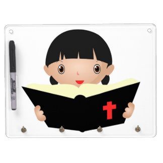 BIBLE STUDY DRY ERASE BOARD WITH KEY RING HOLDER