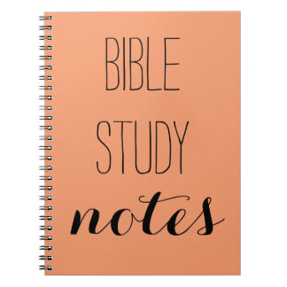 """Bible Study Notes"" Pick your color Notebook"