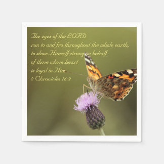 Bible Text 2 Chronicles 16:9 Paper Napkins