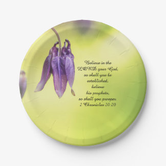 Bible Text 2 Chronicles 20:20 Paper Plate