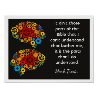 Bible Thoughts - Mark Twain quote - Art print