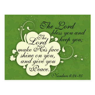 Bible Verse Blessing Irish Design Custom Postcard