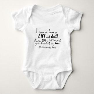 Bible verse by Angela Cross Baby Bodysuit
