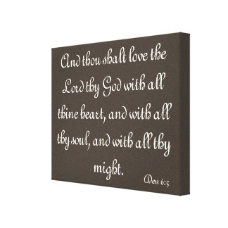 Bible verse canvas canvas print