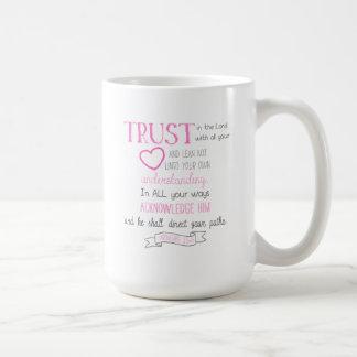 Bible Verse Coffee Mug Proverbs 3:5-6 (15 oz)