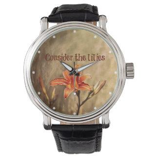 Bible Verse: Consider the Lilies Watch