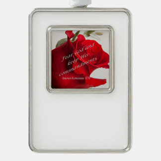 Bible Verse Ecclesiastes 12-13 Ornament Silver Plated Framed Ornament