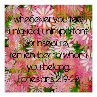 Bible verse encouragement Ephesians Poster