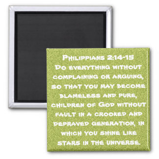 Bible verse encouragement Philippians 2:14-15 Magnet