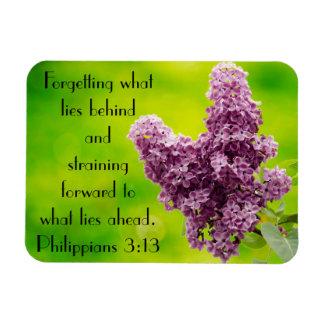 Bible verse encouragement Philippians 3:13 Rectangular Photo Magnet
