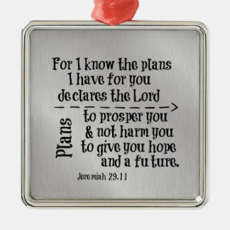 Bible Verse: For I know the Plans I have for you Christmas Tree Ornament