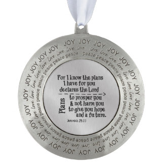 Bible Verse: For I know the Plans I have for you Round Ornament