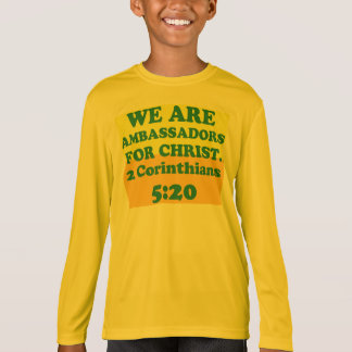 Bible verse from 2 Corinthians 5:20. T-Shirt