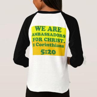 Bible verse from 2 Corinthians 5:20. T-Shirt