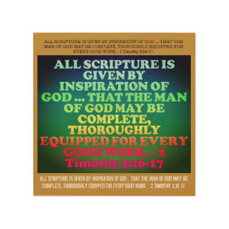 Bible verse from 2 Timothy 3:16-17. Wood Wall Decor