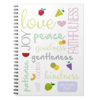 bible verse fruit of the holy spirit notebook
