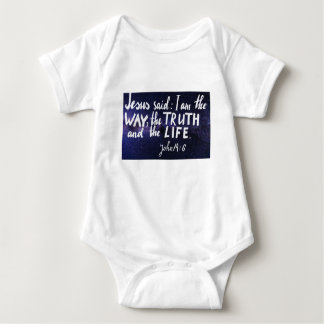 Bible verse I am the way, the truth and the life Baby Bodysuit