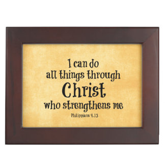 Bible Verse: I can do all things through Christ Keepsake Box